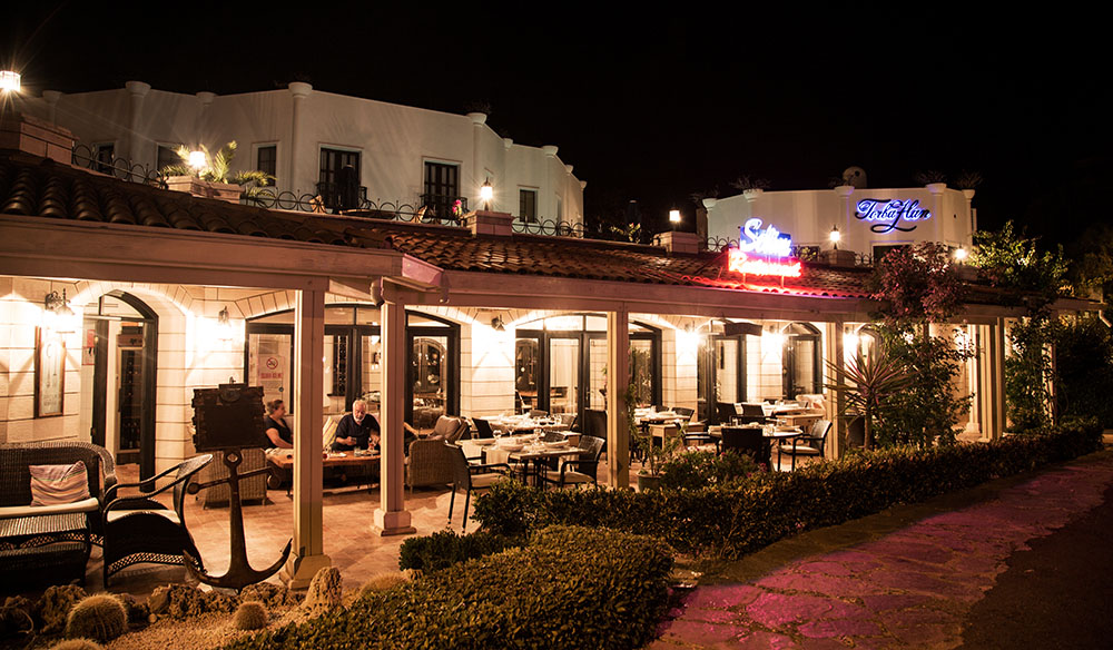 Night view of Bodrum Torbahan